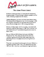 Fact Sheet Prison Island